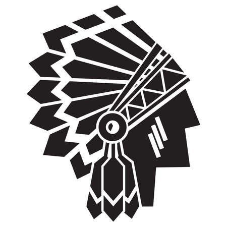 indian chief mascot: american indian avatar