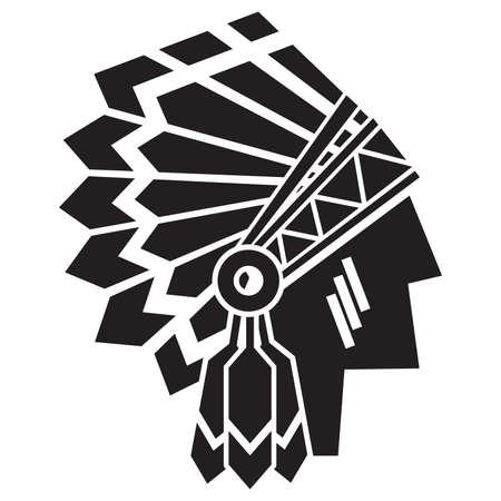 indios americanos: americano avatar indio Vectores