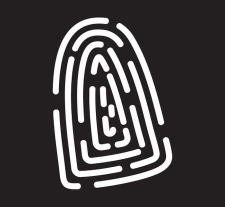 computer keys: Fingerprint icon
