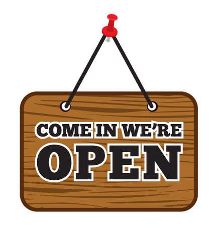 come: Come In Were Open sign