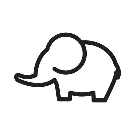 tusk: elephant vector icon