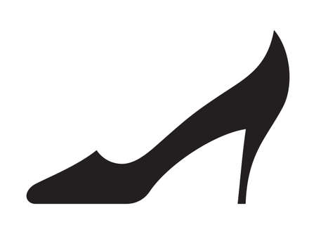 red shoes: Woman shoe icon Illustration