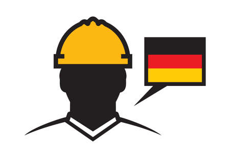 industrial worker: Germany contractor vector icon Illustration