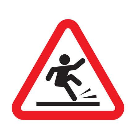 hand injury: warning falling sign