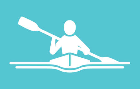 kayaking: Kayaking vector icon Illustration