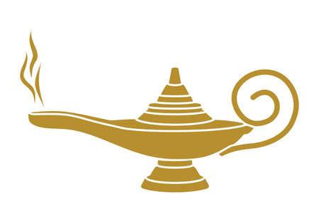 lampara magica: Aladdin l�mpara m�gica Vectores