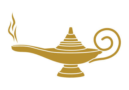 lampara magica: Aladdin lámpara mágica Vectores