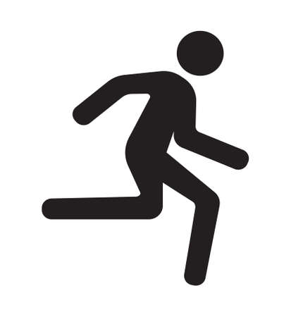 symbol people: Running man vector icon Illustration