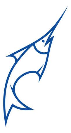 swordfish: Sword fish vector icon Illustration