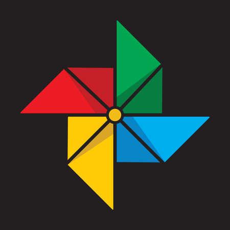 wind vane: Paper windmill icon Illustration