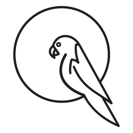 simple: Parrot simple vector icon Illustration