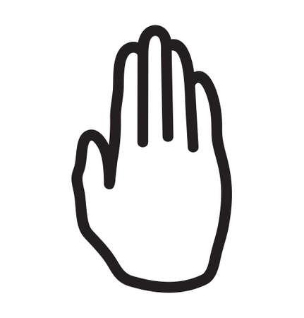 slowdown: stop hand sign