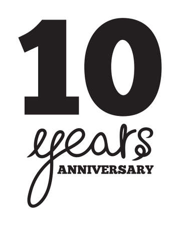 10 years: 10 years anniversary Illustration