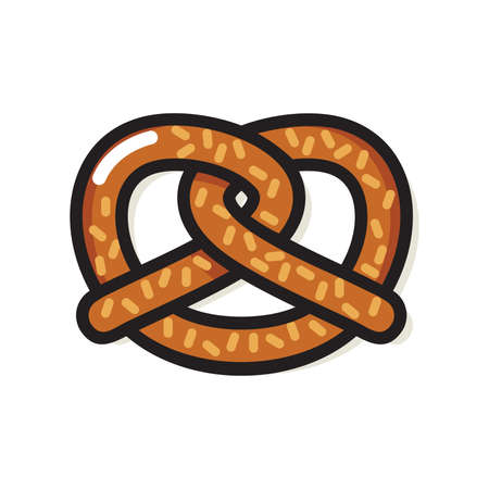pretzel: Pretzel vector icon