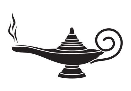 magic lamp: Aladdin magic lamp Illustration