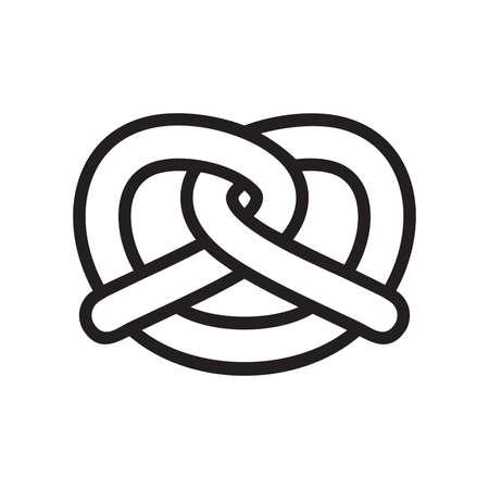 Pretzel vector icon