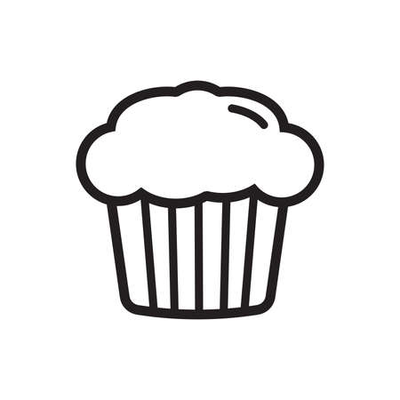 Cup cake vector icon Illustration