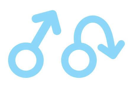 salud sexual: Eréctil disfunción icono del vector