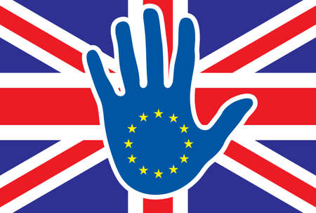 Brexit concept - stop for Great Britain