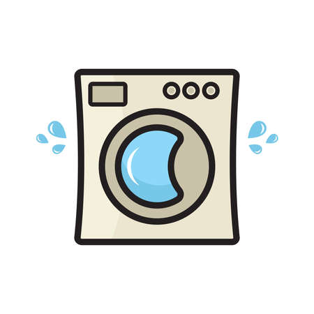 domestic room: Laundry service vector icon