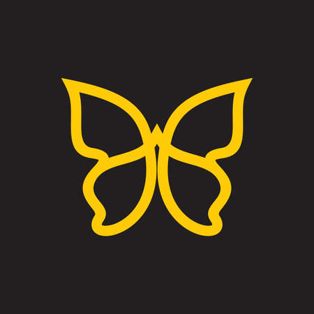insect flies: butterfly vector icon
