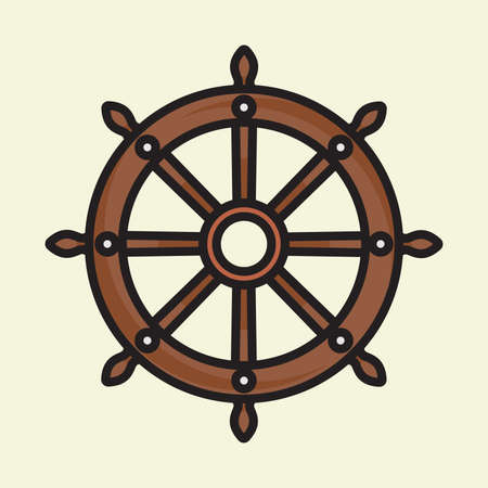 ships: Ship wheel vector icon