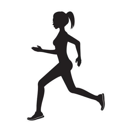 runners: running woman silhouette
