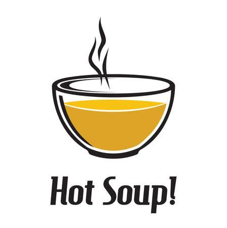 vector de sopa caliente
