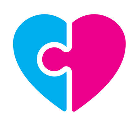 heart puzzle: Puzzle heart vector icon
