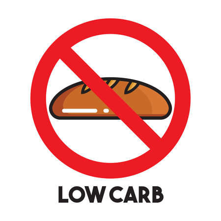 low energy: Low carb vector icon