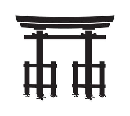 torii: torii gate vector icon
