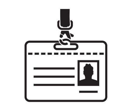 contact information: ID card vector icon