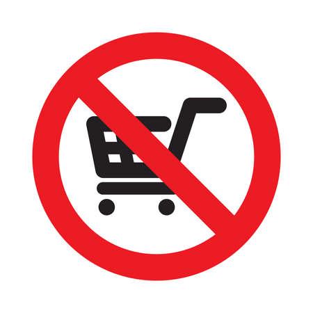 no hay carritos de la compra permitidos