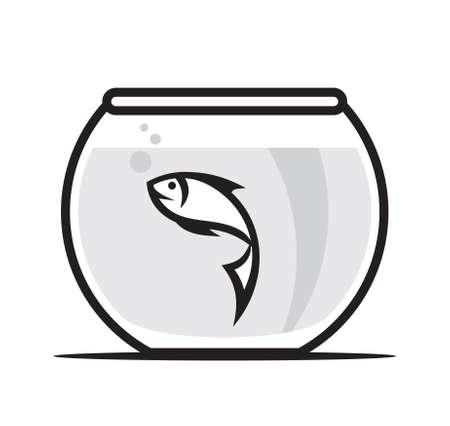 gold fish bowl: Fish in aquarium