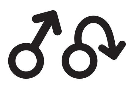 Erectile dysfunction vector icon Illustration