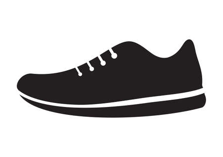 running shoe: Running shoes icon Illustration