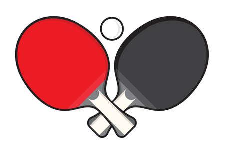 Tischtennis - Tischtennisschläger Vektorgrafik