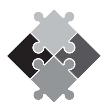 piece: Puzzle vector icon Illustration