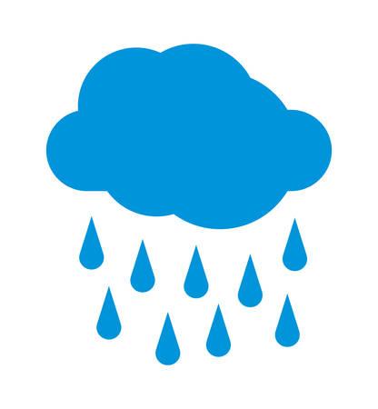 weekly: Rainy weather vector icon