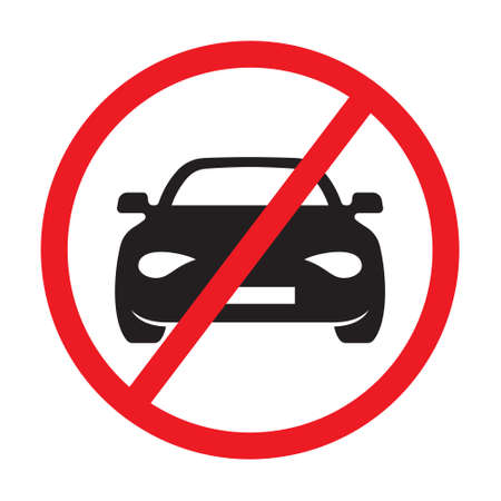 No car allowed sign vector Illustration
