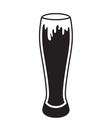 lager beer: Beer mug vector icon