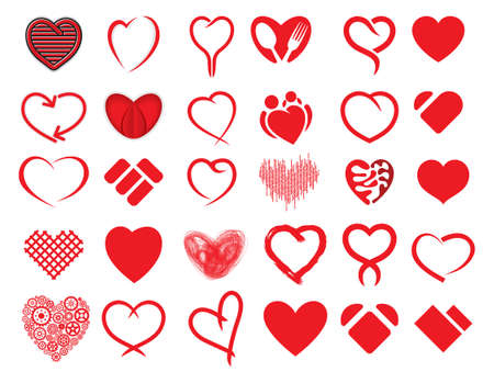 collection red: Red heart collection