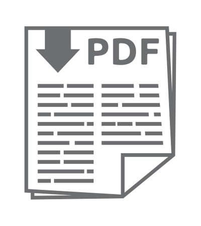 Pdf vector icon Stock Illustratie