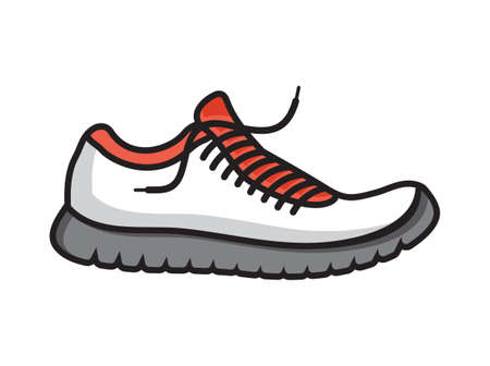 jog: Running shoes vector icon