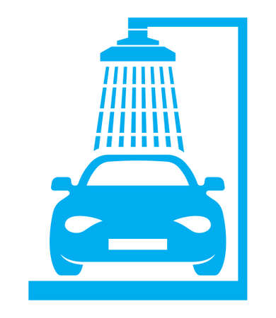 Car wash vector icon Stock Illustratie