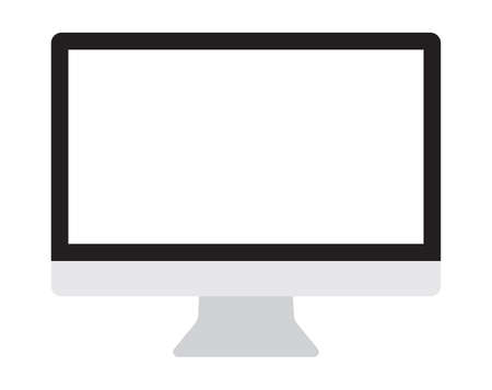 pc icon: Computer monitor, display isolated vector icon