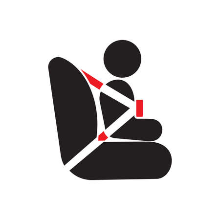 Baby car seat vector sign