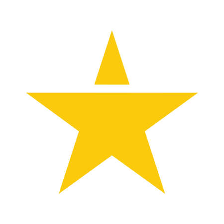 Gold star vector icon Stock Illustratie
