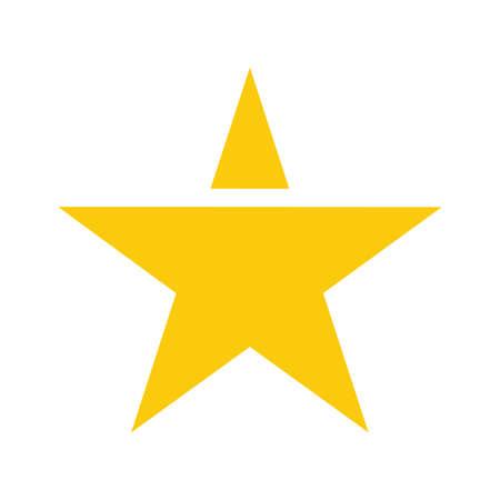 Gold star vector icon Illustration