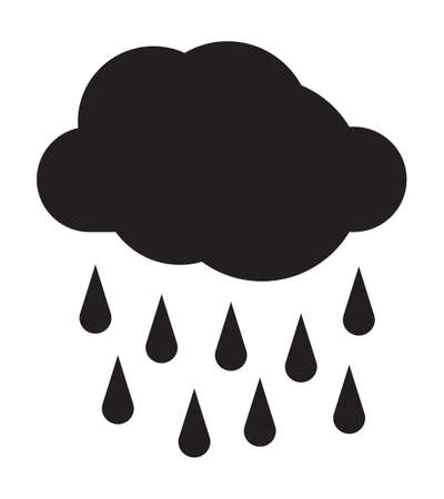 Rainy weather vector icon